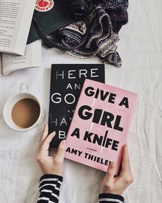 Give A Girl A Knife by Amy Thielen and Here And Gone by Haylen Beck