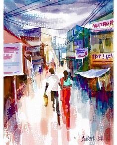 A colorful creation by SathishBR using Auryn Ink #aurynink...