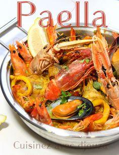 Paella royale au poulet et fruits de mer