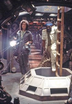 Sigourney Weaver, Yaphet Kotto in alien 1973 film