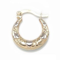 *****Price is per pair*****  Description: 1/10 of 10K Gold & 9/10 of Silver, Puff D/C Earring   Weight: 1.6g  Width : 16mm   Length : 18mm  ***************This is Genuine 10kt Gold and Sterling Silver. Not plated.*************** $89.99