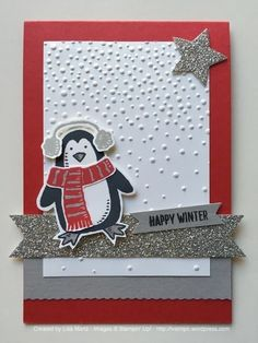"""It's a color challenge week at Create with Connie and Mary. This color combo spoke """"winter"""" to me. I don't want you to think I love winter, but it's comin' whether we like it or not! So, might a..."""
