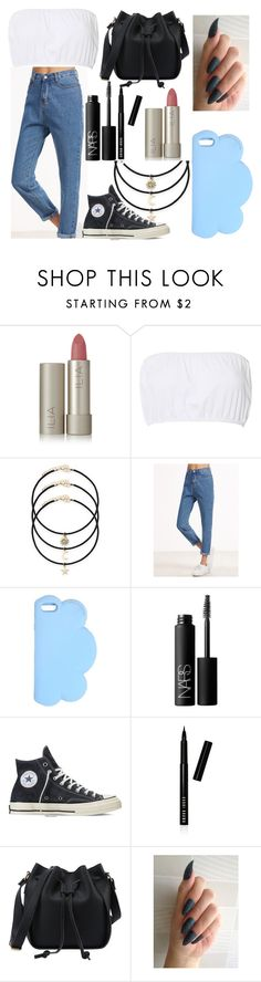 """Untitled #39"" by sofi-the-first1912 on Polyvore featuring Ilia, Glamorous, STELLA McCARTNEY, NARS Cosmetics, Converse and Bobbi Brown Cosmetics"