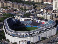 """New York Yankees. Old Yankee Stadium, """"The House That Ruth Built"""", and Steinbrenner renovated :-). Attended a game the last year Sports Stadium, Stadium Tour, Yankee Stadium, Baseball Park, Baseball Field, Baseball Stuff, New York Giants, New York Yankees, Monuments"""