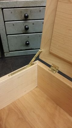 Here's a sample box we had made by a local woodworker to show off our JB-250 lid supports as well as our CB-301 butt hinge. www.brusso.com #brusso