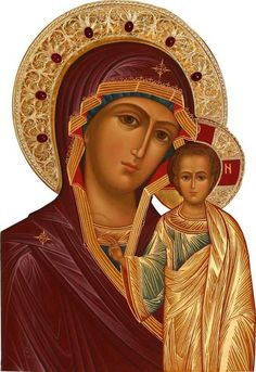 Icon from Nevena Bozic Mother Of Christ, Blessed Mother, Mother Mary, Religious Images, Religious Icons, Religious Art, Byzantine Icons, Byzantine Art, Immaculée Conception