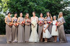 glam silver bridesmaid dresses | F8 Studio #wedding
