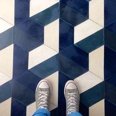 Popham Design DEMI HEX in a Paris palette floor tiles Floor Patterns, Tile Patterns, Textures Patterns, Floor Design, Tile Design, Deco Paris, Deco Stickers, Motifs Textiles, Style Deco