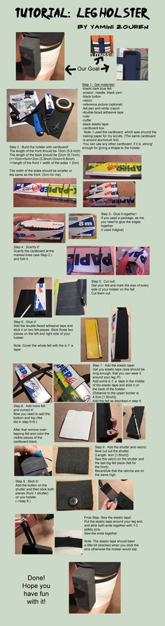 Tutorial: Leg Holster by YaminiZouren-Photos on DeviantArt