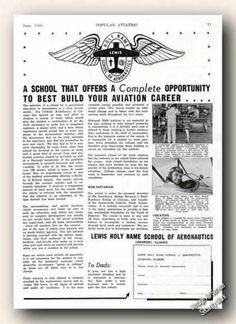 Lewis Holy Name School Aeronautics Lockport Il (1939)