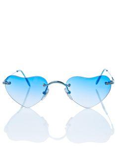 Blue Lolita Sunglasses Lunettes De Soleil De Coeur, Replay, Lunettes, Lens f2848afc665c