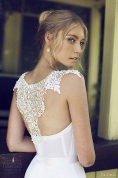 riki dalal bridal 2015 provence beautiful wedding dress 1509 back view crochet detail