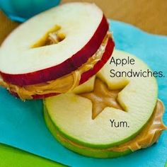 """To help your kids live and eat """"higher"""" ... Try Apple Sandwiches!."""