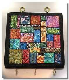 Key holder in mosaics - technique learned from Laurie Mika