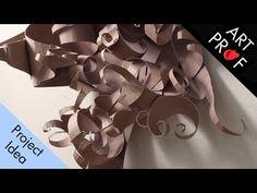 Art Prof: Project Ideas for Art Teachers & Art Students Sculpture Art, Sculptures, Design Projects, Projects To Try, Chipboard, Art Techniques, 3d Design, Art Tutorials, Art Lessons