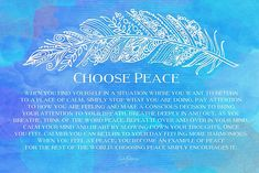 'Choose Peace' Poster by CarlyMarie Positive Thoughts, Positive Vibes, Positive Messages, Paz Interior, Mind Body Soul, Spiritual Awakening, Inner Peace, Positive Affirmations, Yoga Fitness