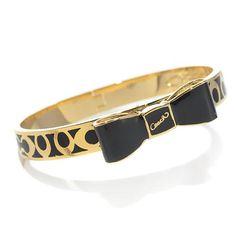 $12.99  cuddlestudios.com - High Quality Coach Bowknot Logo Black Bracelets AKM, I'm in love!