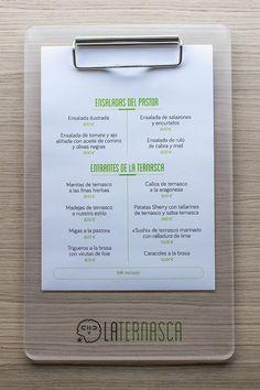 Choni encuadernación: Carta para el Restaurante la Ternasca