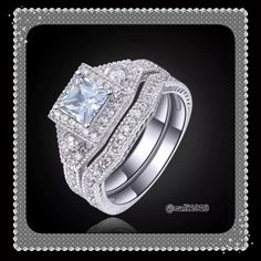 New 2 PC Stainless Steel Wedding Ring Set Sz 8, 9 Gem Type: White Topaz Gem Weight: 4.0 CT Cut: AAA Clear Ring Box: Yes Ring Size: 8, 9 Gem Size: 6 mm*6 mm Metal Type: Stainless Steel Around Stone: White Topaz Around Stone Size:2 mm*2 mm PLEASE DO NOT PURCHASE THIS LISTING BECAUSE IT IS THE MAIN LISTING FOR THIS ITEM. PLEASE COMMENT BELOW AND I WILL CREATE A SEPARATE LISTING JUST FOR YOUR PURCHASE Boutique Jewelry Rings