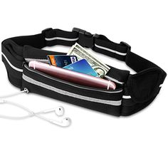 Running Belt, VCOO Fanny Pack for Phones (including iPhone 7/ 7 Plus, 6s/ 6s Plus, 6/ 6 Plus, Samsung Galaxy, LG), Sweatproof Reflective Waist Pouch for Workout Exercise Gym Walk Travel. SUPERIOR LIGHT& BREATHABLE MATERIAL: This running belt is made of premium Lycra material which is durable, light and breathable for your comfortable wear. WATER RESISITANT: [WATERPROOF ZIPPER] Water resistant material and zipper keep your valuables safety, protecting them from sweat, rain, and dirt. Stay…