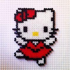 Hello Kitty hama beads by hadavedre