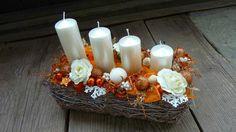 :) - Kolekcia užívateľky kacenas26 | Modrastrecha.sk Advent Wreaths, Christmas Things, Pillar Candles, Beautiful Things, Christmas Decorations, Crafting, Drinks, Recipes, Candles
