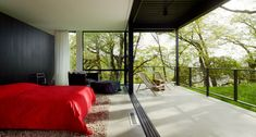 Burton Residence / Marmol Radziner I could deal with a bedroom like this.