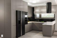 Projekt wnętrz mieszkania - Średnia otwarta kuchnia w kształcie litery u w aneksie z wyspą, styl nowoczesny - zdjęcie od ARCHISSIMA