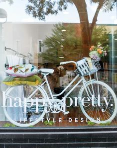 For Michigan-based interior designer, event stylist, photographer, and florist Melanie Marshall, creativity is life. Salon Window Display, Boutique Window Displays, Spring Window Display, Window Display Retail, Store Displays, Retail Displays, Shop Interior Design, Store Design, Store Front Windows
