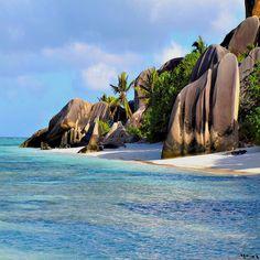 La Digue, Seychelles  Ummmm...Yeah...I could just build myself a little hut on the beach and be happy for the rest of my life. Just send in a massage therapist to me twice a month and keep the novels coming!