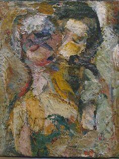 'Le baiser' (The Kiss) 1944 by Eugène Leroy. The Kiss Keka❤❤❤
