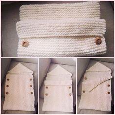 ~inspiration- simple shape for adjustable bunting~ Saco rústico de bebé!!!