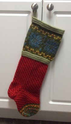 Red Mrs. Claus Stocking by GWHouseofKnits on Etsy