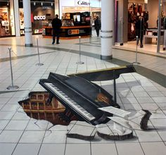 cool 3D sidewalk drawing