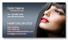 Beauty salon business card designs.