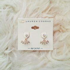 Lauren Conrad Ear Jackets Can be worn as studs or with the ear jackets Feel free to ask me any questions Thanks for browsing my closet! Happy Poshing Lauren Conrad Jewelry Earrings