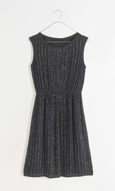 Madewell sequin line dress.