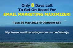 The Launch of Email Marketing Maximizer