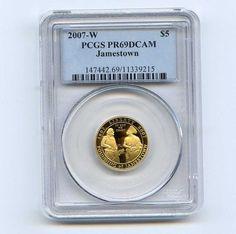 2007-W PCGS PR69DCAM $5 Jamestown Gold Five Dollar Proof Commemorative Coin in Coins & Paper Money, Coins: US, Commemorative | eBay