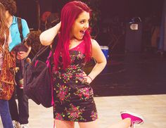 Ariana Grande on the set of Victorious