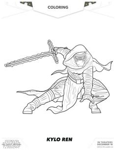 Star Wars: The Force Awakens Kylo Ren Coloring Page