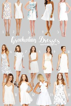 e3e3526324 55 Best White graduation dresses images