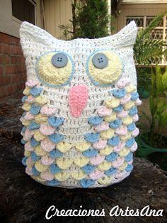Artisan Creations: New crochet owl!
