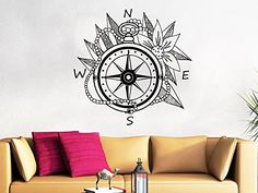 Wall Decal Vinyl Sticker Decals Compass Rose Nautical Decor Compass Navigate Ship Ocean Sea Living Room Home Decor Art Bedroom Design Interior C166 StylewithDecals http://www.amazon.com/dp/B014I2H7E2/ref=cm_sw_r_pi_dp_js40wb089CQSS