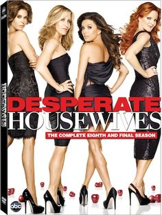 Desperate Housewives The Complete and Final Season 8 comes out on DVD 9/25. Desperate Housewives has been on ABC for 8 years and has been quite the series to watch. Could you ever figure out w