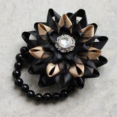 Wrist Corsage Flower Corsage Bracelet Black Corsage Flower Stretch Bracelet Wrist Flower Flower Bracelet for Prom Bridesmaids Wedding