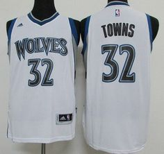 Men's Minnesota Timberwolves #32 Karl-Anthony Towns Revolution 30 Swingman 2015 Draft New White Jersey