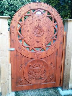 Amazing decorative gate created using Vector Art 3D Models and additonal toolpaths created using VCarve Pro