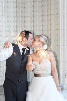 Cute shot with sparklers
