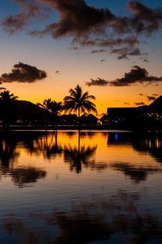 Sunset... in Bora Bora...
